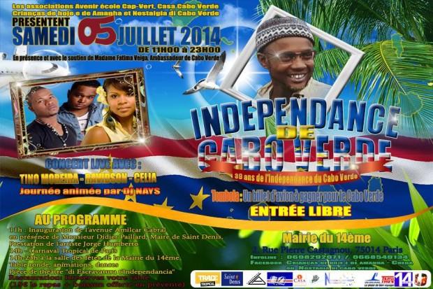 Fête de l'Independence 40 ans Cabo Verde – 5 juillet 2015